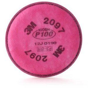 Filtro 2097 3M para partículas P100 niveles molestos Vapores Orgánicos