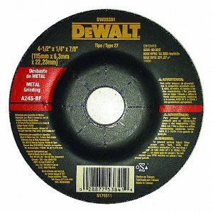 Disco de desbaste 4 1/2″ x 1/4 Dewalt
